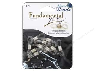 craft & hobbies: Sweet Beads Fundamental Finding Eyeglass Holder 10 pc. Silver