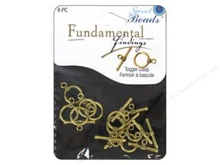 Clearance Sweet Beads: Sweet Beads Fundamental Finding Toggle Clasp 7/16 in. Antique Gold 9 pc.