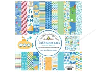 stickers: Doodlebug 12 x 12 in. Paper Pack Anchors Aweigh