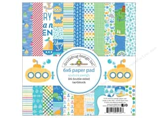 scrapbooking & paper crafts: Doodlebug 6 x 6 in. Paper Pad Anchors Aweigh