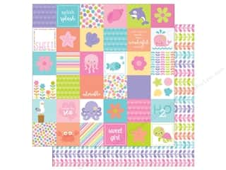 Doodlebug 12 x 12 in. Paper Under The Sea Coral Reef (25 sheets)