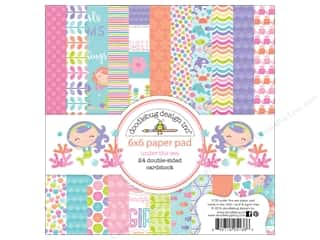 stickers: Doodlebug 6 x 6 in. Paper Pad Under The Sea