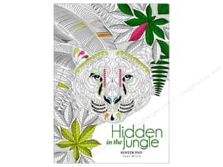 chipboard 8.5x11: Lark Hidden in the Jungle Coloring Poster Book