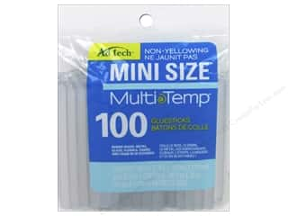 Hot glue gun and glue sticks: MultiTemp Hot Glue Stick Mini 4 in. 100 pc. by Adhesive Technology