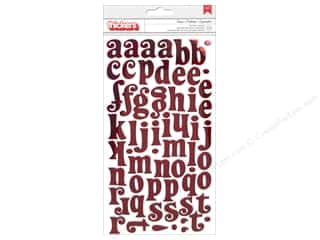 thickers: American Crafts Thickers Alphabet Stickers Tinsel Cherry