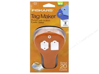 Grommet Attacher / Eyelet Attacher: Fiskars Punch Craft Tag Maker II Standard/Scallop