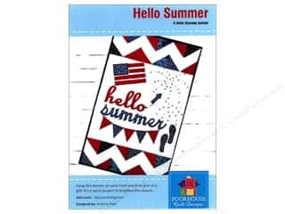 Poorhouse Quilt Design Hello Seasons Summer Banner Pattern Picture