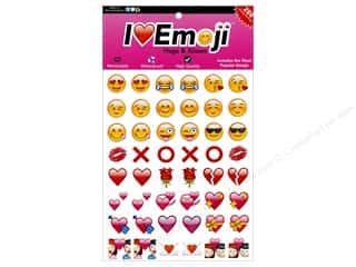 Clearance: Everything Emoji Sticker Small 288pc Hugs & Kisses