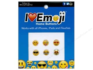 scrapbooking & paper crafts: Everything Emoji Epoxy Home Button 6pc Assorted Sets
