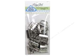 Clearance: Lazy Girl Design Key Fob Hardware Party Pack Nickel 25 pc