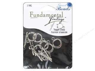 beading & jewelry making supplies: Sweet Beads Fundamental Finding Toggle Clasp 9/16 in. Antique Silver 7 pc.
