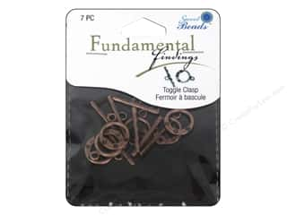 beading & jewelry making supplies: Sweet Beads Fundamental Finding Toggle Clasp 9/16 in. Antique Copper 7 pc.