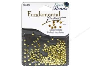 beading & jewelry making supplies: Sweet Beads Fundamental Finding Bead 3 mm Round Gold 165pc