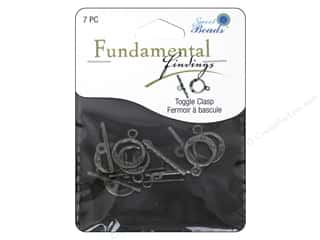 beading & jewelry making supplies: Sweet Beads Fundamental Finding Toggle Clasp 9/16 in. Pewter 7 pc.