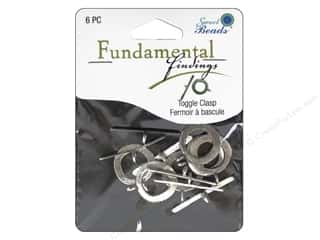 beading & jewelry making supplies: Sweet Beads Fundamental Finding Toggle Clasp 3/4 in. Antique Silver 6 pc.