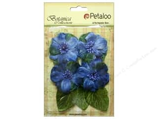 Petaloo Botanica Collection Vintage Velvet Peonies Blue