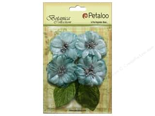Petaloo Botanica Collection Vintage Velvet Peonies Teal