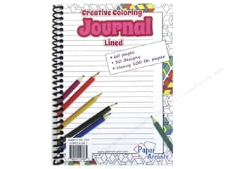 scrapbooking & paper crafts: Paper Accents Creative Coloring Journal 5 x 7 in. Lined