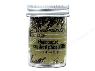 gold embossing powder: Stampendous Fran-Tage Crushed Glass Glitter 1.59 oz. Champagne