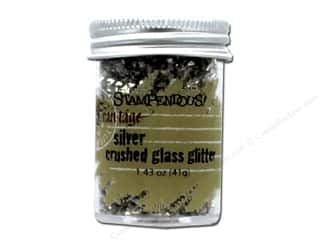 scrapbooking & paper crafts: Stampendous Fran-Tage Crushed Glass Glitter 1.59 oz. Silver