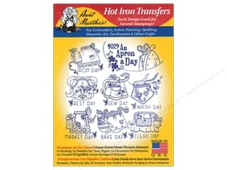 yarn & needlework: Aunt Martha's Hot Iron Transfer #4029 An Apron A Day