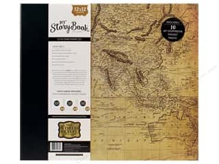 3/4 D rings: Carta Bella 12 x 12 in. My Storybook Photo Journal Old World Travel Map
