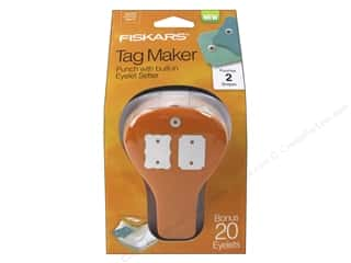 Grommet Attacher / Eyelet Attacher: Fiskars Punch Craft Tag Maker II Ticket/Curly