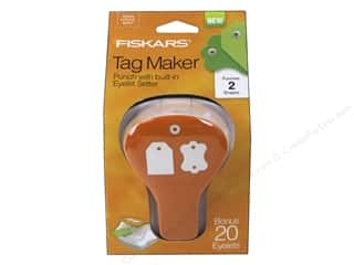 Grommet Attacher / Eyelet Attacher: Fiskars Punch Craft Tag Maker II Label/Simple