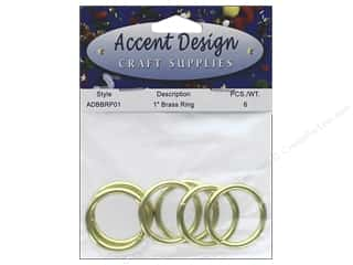 craft & hobbies: PA Essentials Brass Rings 1 in. 6 pc.