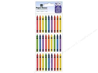 Crayons: Paper House Sticker Puffy Crayons