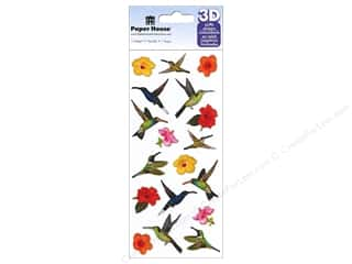 stickers: Paper House Sticker 3D Puffy Hummingbirds