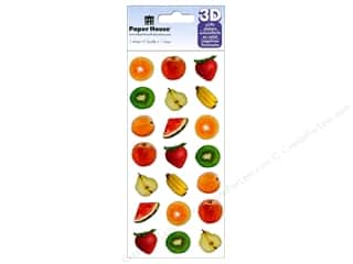 stickers: Paper House Sticker 3D Puffy Fruit