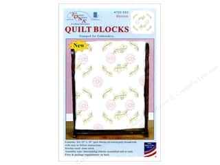 Jack Dempsey 18 in. Quilt Blocks 6 pc. Cross Stitch Daisies