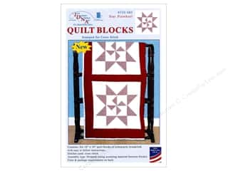 "Jack Dempsey Quilt Block 18"" 6pc White XX Star Pinwheel White"