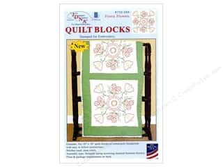 "Jack Dempsey Quilt Block 18"" 6pc White Fiesta Flower White"