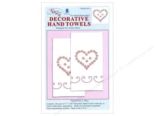 stamps: Jack Dempsey Decorative Hand Towel Valentine's Day 2 pc