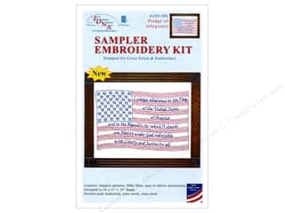 "yarn & needlework: Jack Dempsey Sampler Kit 11""x 14"" With Floss Pledge"