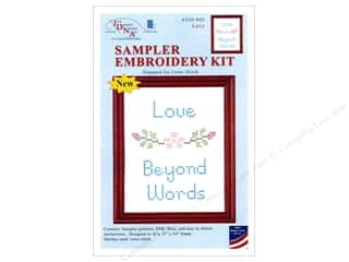 "yarn & needlework: Jack Dempsey Sampler Kit 11""x 14"" With Floss Love"