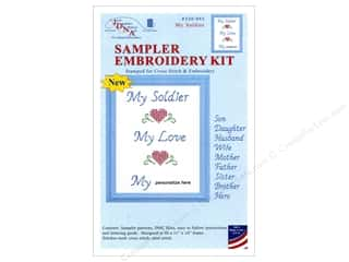 "yarn & needlework: Jack Dempsey Sampler Kit 11""x 14"" With Floss Soldier"