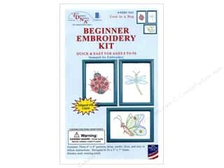 yarn & needlework: Jack Dempsey Beginner Embroidery Kit Cute as a Bug