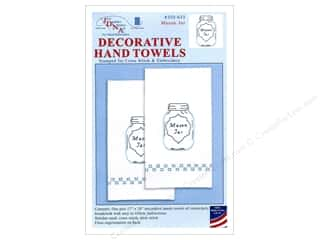 yarn & needlework: Jack Dempsey Decorative Hand Towel Mason Jar 2 pc