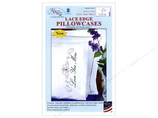 Jack Dempsey Pillowcase Lace Edge White Love You More
