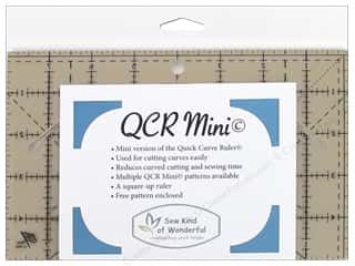 quilt rectangular square ruler: Sew Kind Of Wonderful Ruler Quick Curve Mini