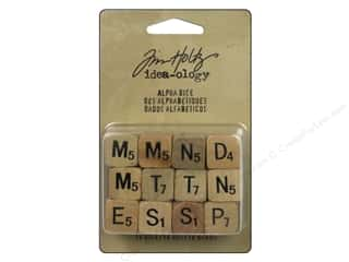 Tim Holtz Idea-ology Alpha Dice 12 pc.