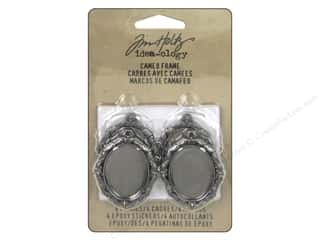beading & jewelry making supplies: Tim Holtz Idea-ology Cameo Frames Silver