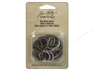 Tim Holtz Metallic Mixative: Tim Holtz Idea-ology Mini Book Rings Silver