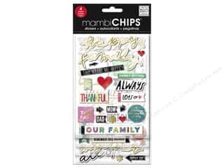 Me&My Big Ideas Sticker Designer Chipboard Chips Happy Family