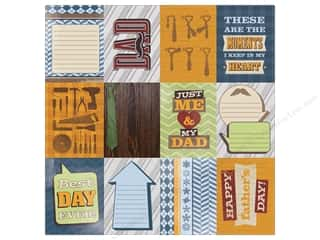 scrapbooking & paper crafts: Paper House Paper 12 in. x 12 in. Dad Tags (25 sheets)