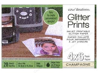 Coredinations Glitter Prints Paper Pad 4 x 6 in. Champagne 20 pc.