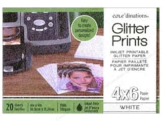 Weekly Specials Coredinations: Coredinations Glitter Prints Paper Pad 4 x 6 in. White 20 pc.